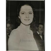 1930 Press Photo Mlle Yvette Iabrousse chosen to represent France