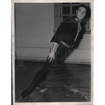 1937 Press Photo Karl Schaefer, Figure skater - nee31114