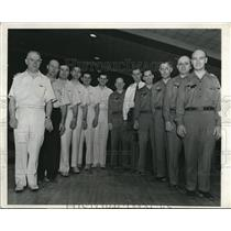 1943 Press Photo Members of the World Match Game Bowling Champions - nee31268