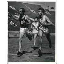 1940 Press Photo La Calif Charles Shaw, Howard Upton, Craig Williamson in 440