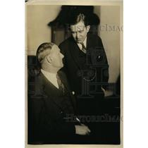 1924 Press Photo promoter Tex Rickard, atty Hyman Bushel at Daugherty Hearing