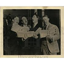 "1929 Vintage Photo Ritz Quartet perform ""Sweet Adeline"" on CBS radio"