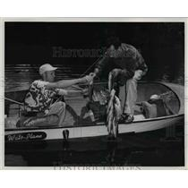1951 Press Photo Fishing from Boat in Haines City Florida - nee38413