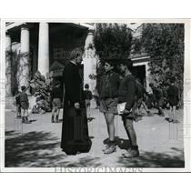 1949 Photo Father Antonio Rivolta helped make city Santa Marinella