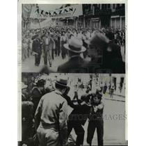 1940 Press Photo Mexico City Riots During Election Period Violence Erupting