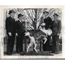 1938 Press Photo US Naval Academy Capt EW McKee, Cmdr HA Flanigan - nes27467