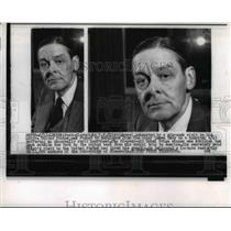 1956 Press Photo Playwright T. Eliot, rushed to the hospital from the liner