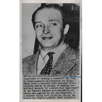 1952 Press Photo Fritiof Enbom, Accused Swedish Spy Ring Leader - nee35879