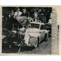 1948 Press Photo Indianapolis Ind Bud Thayer, Jack Harenberg for Indy 500
