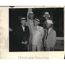 1936 Press Photo Alfred Landon with 4 other men, Kansas Gov. candidate for Pres.