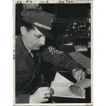 1941 Press Photo Bob Robinson Guard at Fork Ridge Mine Killed by Strikers
