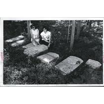 Press Photo Stones transferred from Brewster Cemetary in Massachusettes