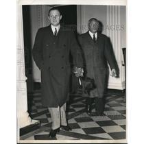 1940 Press Photo Mr Hans Thomsen and Gerhardt Westrick arrive at State Dept.