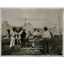 1936 Press Photo Miner's Refugee Camp in Sacramento,CA - nee25842
