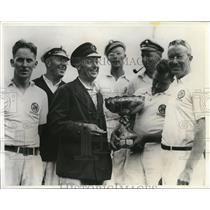1934 Press Photo Crew of Conewago wins Canada's Cup yacht race, Capt T Wade