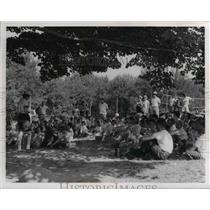 1957 Press Photo Raider Camp  - nee37343