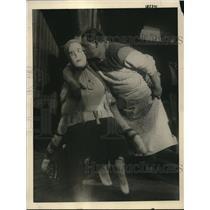 1922 Press Photo Louis Vitale Boston showemaker & alife sized doll of wife