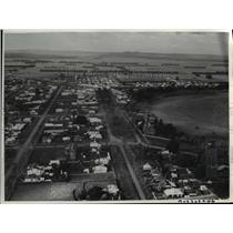 1937 Press Photo Aerial view of Terang near Geelong & 137 miles from Melbourne