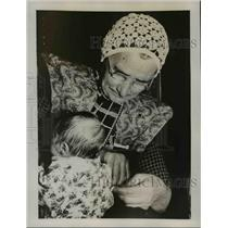 1937 Press Photo The custom in Holland of packing the baby in a quilt covered