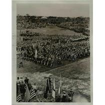 1935 Press Photo of a Boy Scout Jamboree in Melbourne, Australia.  - nee36629