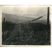 1928 Press Photo Countryside And Mountains In Europe