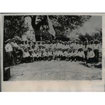 1938 Press Photo The Gold Shirt band of General Nicholas Rodriguez - nee39849