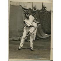 1926 Press Photo Edward G Chandler at tennis vs Bill Tilden in NY