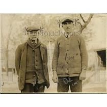 1919 Press Photo George Eckhardt, Hunter & Coroner Charles C Cunningham