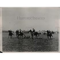 1936 Press Photo Fort Benning, Georgia Fox Hunters - nee43148
