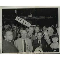 1950 Press Photo Members Texas Delegation at Democratic National Convention