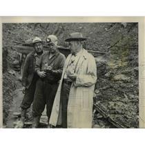 1950 Press Photo Midvale-Goshen Mine Inspectors After Fire, Ohio - nee41312