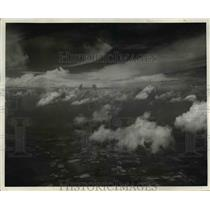 1940 Press Photo upper clouds- cumulo-nimbus, lower cumulus clouds - nee42367