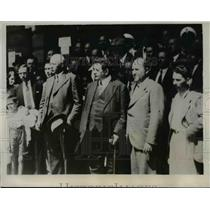 1933 Press Photo M. Edouard Herrist,M. Moucherov arrival in Bulgaria - nee43123