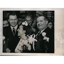1941 Press Photo Chester Pa NA Rockefeller, Carlos Martins of Brazil