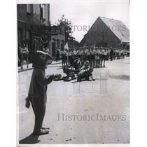 1949 Press Photo Seehasen Festival Folklore Reenactment, Friedrichshaven Germany