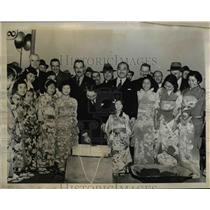 1938 Press Photo of Japans Worlds Fair pavilion being dedicated at Worlds Fair