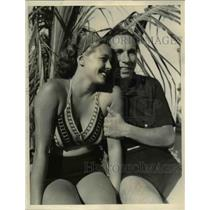 1936 Press Photo of Mark Kirk Brown and William Seymour on vacation in Miami.