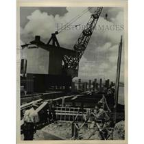 1940 Press Photo Dredging ramp Naval Air Base at San Juan - nee47224