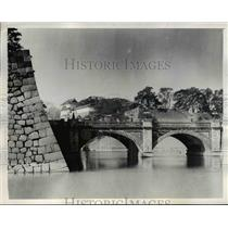 1945 Press Photo Emperor Hirito's palace in Tokyo - nee44240