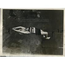 1929 Press Photo Paul Cleary Jr Diving from 6 Foot Board