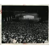 1939 Press Photo Wash DC National Symphony Orchestra & huge crowds
