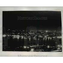 1941 Press Photo Seattle Washington Skyline Before Test Blackout, World War II