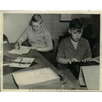 1940 Press Photo Bruce McIntyre Editor of Tulsa News & Paul Wene Both Age 12
