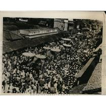 1933 Press Photo Kumbakonam South India annual festival - nee56611