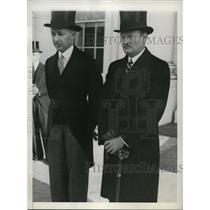 1935 Press Photo Colombian Minister Miguel Lopez-Pumarejo, Richard Southgate