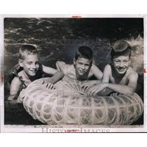 1955 Press Photo Tom Wellman Samuel Wellman & Russ Sadler - nee54358