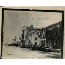 1928 Press Photo Downtown Street in West Palm Beach After Storm  - nee54561