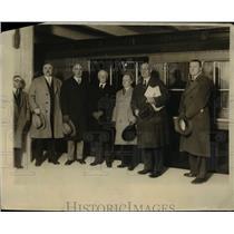 1929 Press Photo Mayor Mackey (2nd Right) took first ride Philadelphia Subway.