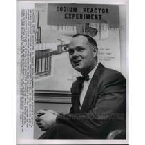 1955 Press Photo W Kenneth Davis in his Office - nee53279