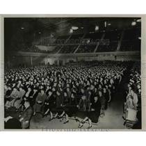 1936 Press Photo Women of Seattle in Civic Auditorium  - nee50833